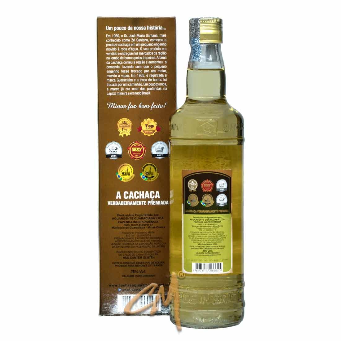 Cachaça Guaraciaba Premium 670 ml (Guaraciaba - MG)