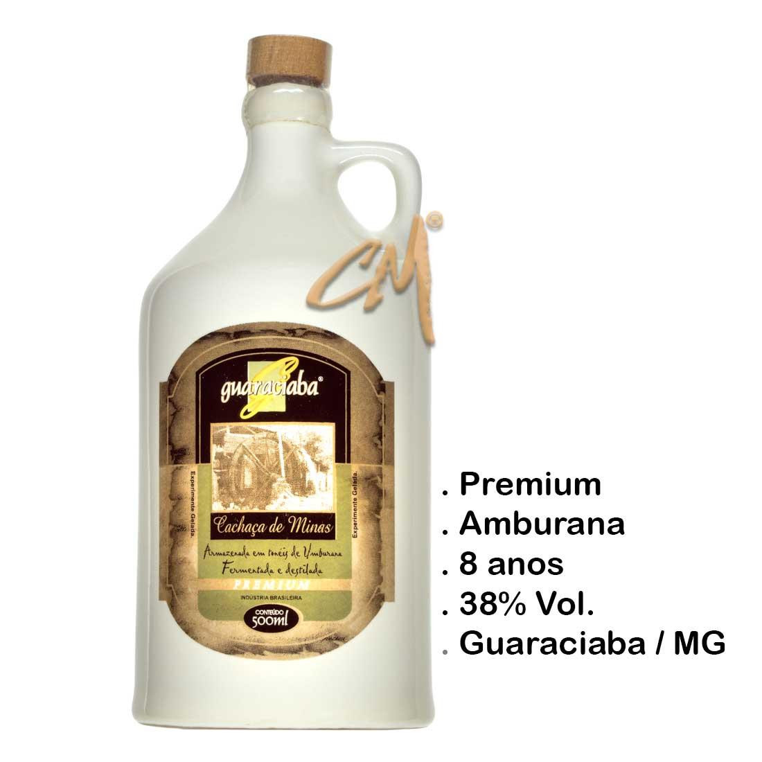Cachaça Guaraciaba Premium Louça 500 ml (Guaraciaba - MG)