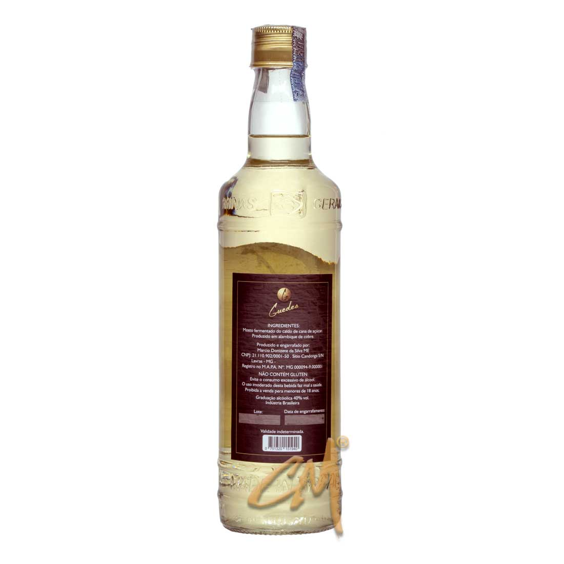 Cachaça Guedes Ouro 700 ml (Lavras - MG)