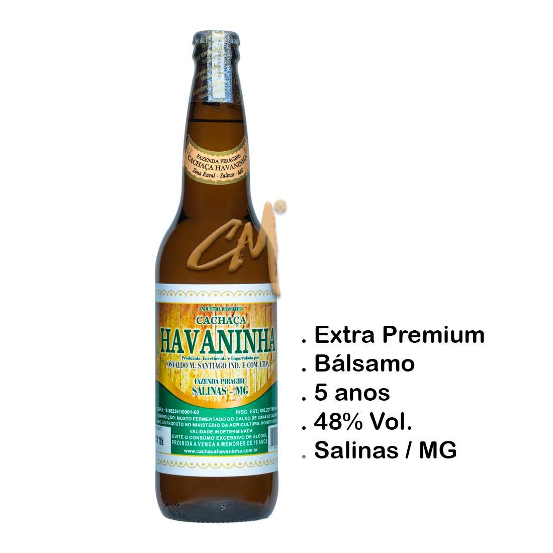 Cachaça Havaninha 600 ml   (Salinas - MG)