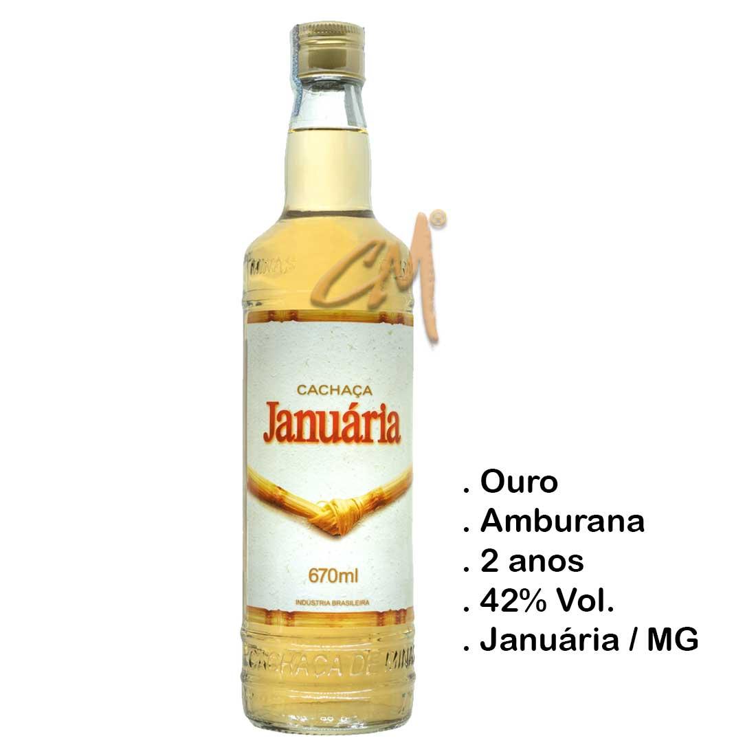 Cachaça Januária 670 ml (Januária - MG)