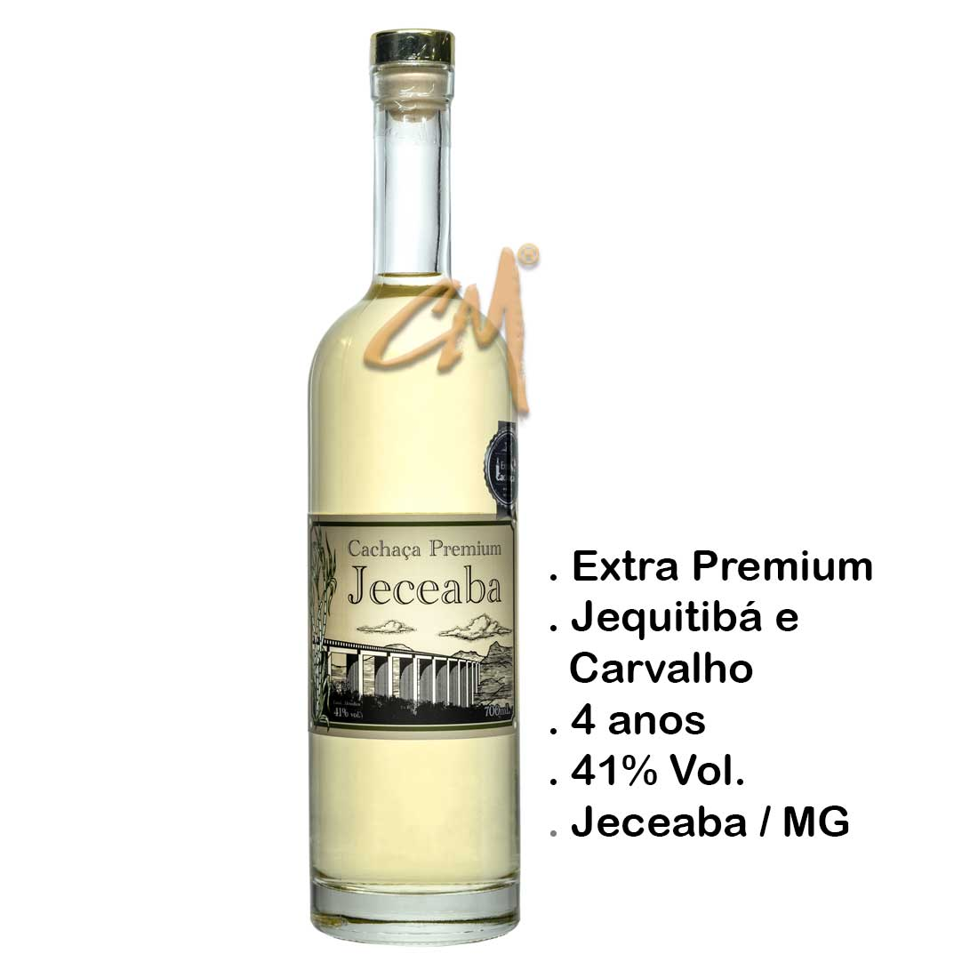Cachaça Jeceaba Premium 750 ml (Jeceaba - MG)