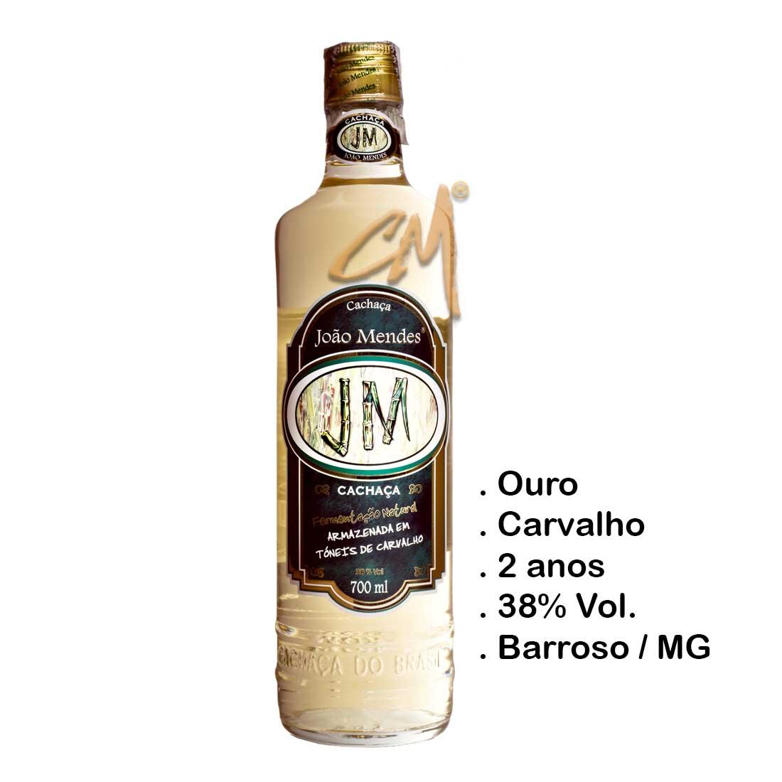 Cachaça João Mendes Ouro 700 ml (Perdões - MG)