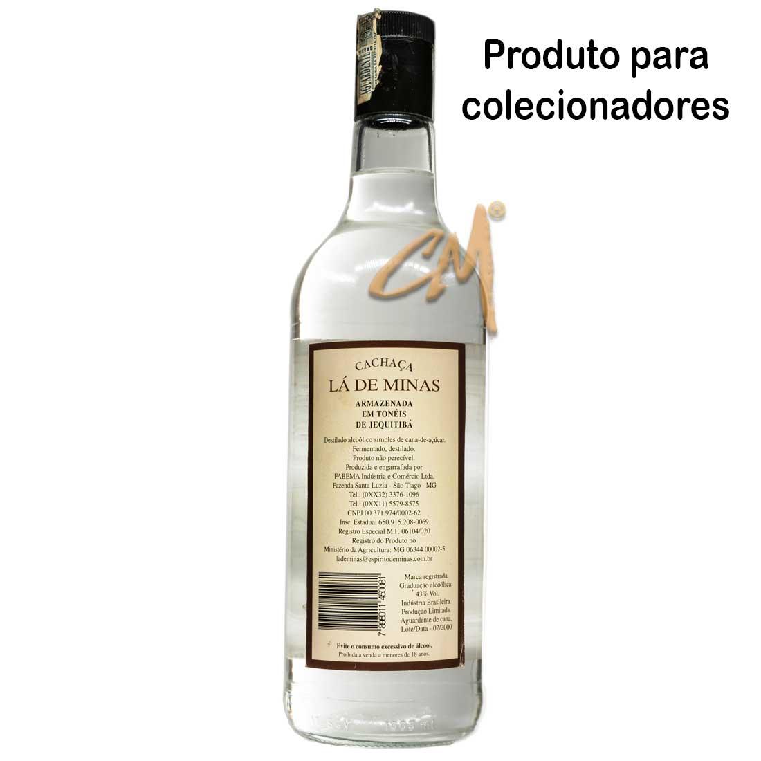 Cachaça Lá de Minas 970 ml (São Tiago - MG)
