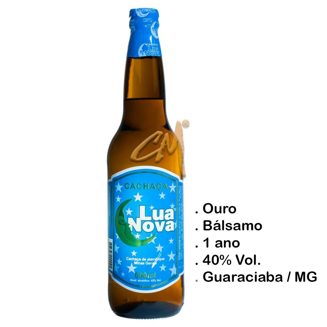 Cachaça Lua Nova 600 ml (Salinas - MG)
