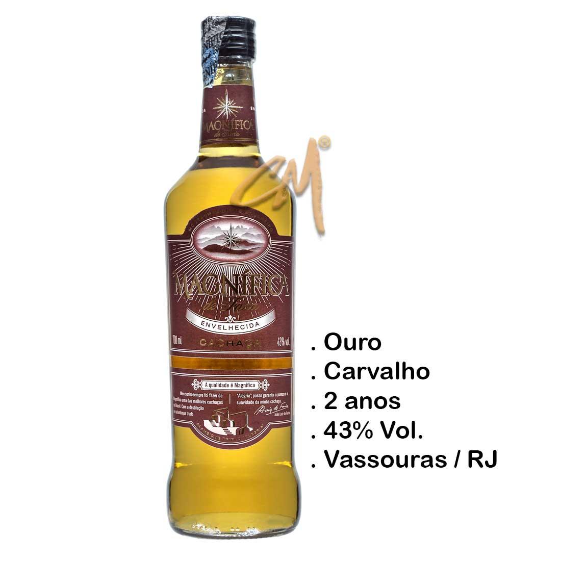 Cachaça Magnífica Envelhecida 700 ml (Vassouras - RJ)