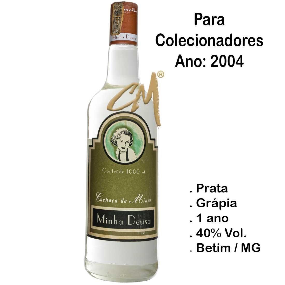 Cachaça Minha Deusa 2004 980 ml (Vianópolis - MG) - Coleção