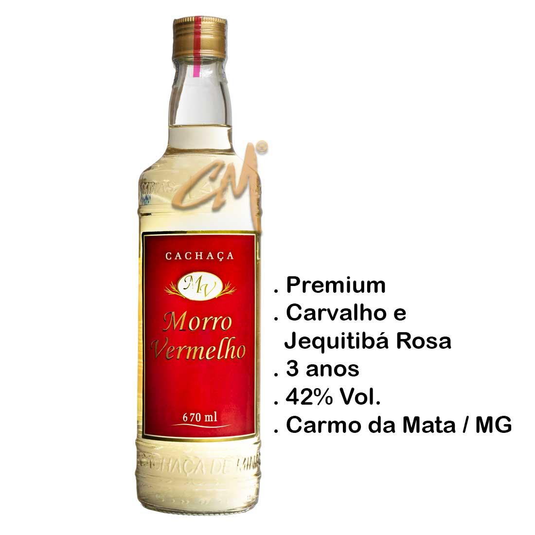 Cachaça Morro Vermelho Ouro 670 ml (Carmo da Mata - MG)
