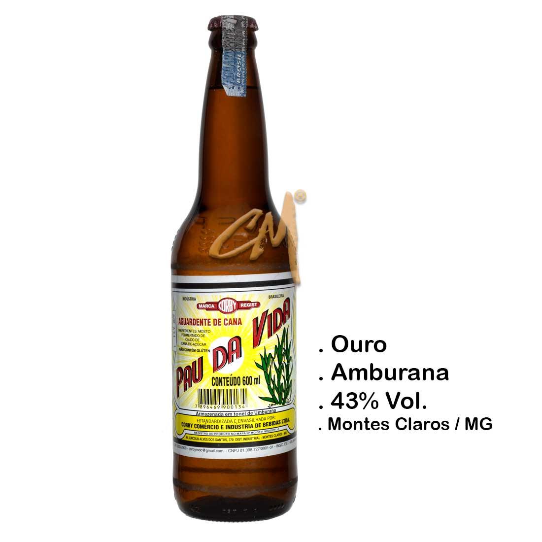 Cachaça Pau da Vida 600 ml (Montes Claros - MG)