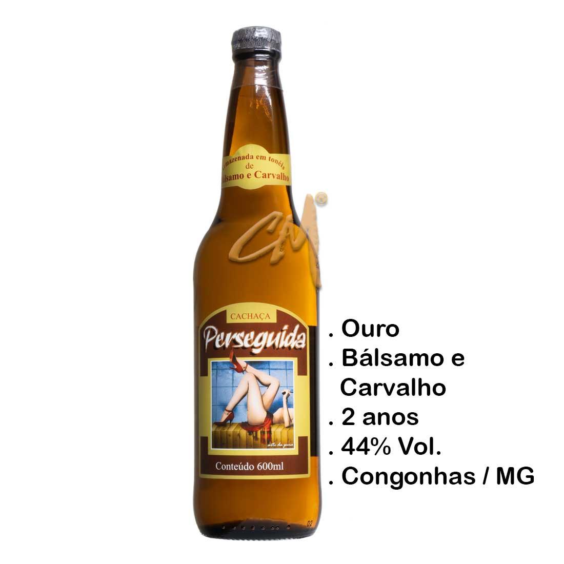 Cachaça Perseguida Ouro 600 ml (Congonhas - MG)