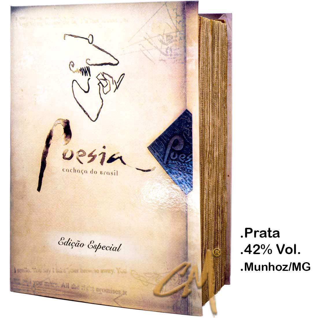 Cachaça Poesia 670 ml Caixa Livro (Munhoz - MG)