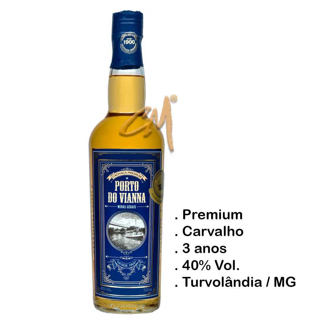 Cachaça Porto do Vianna Premium 700 ml (Turvolândia - MG)