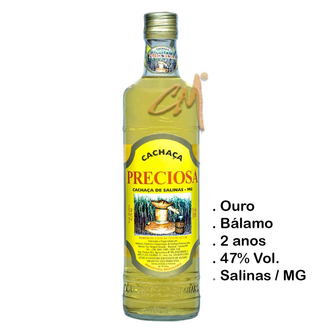 Cachaça Preciosa 700 ml (Salinas -MG)