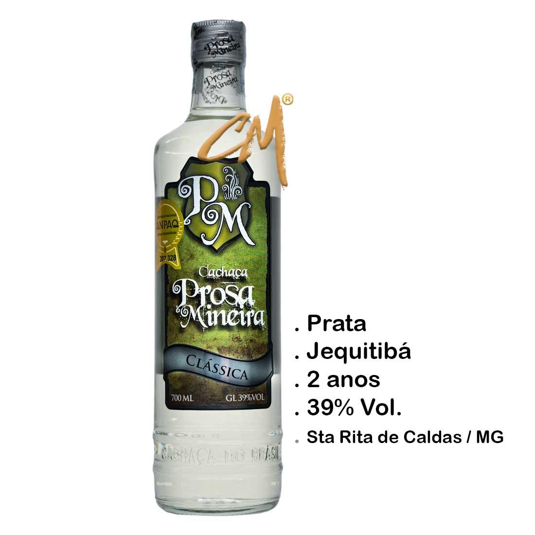 Cachaça Prosa Mineira Clássica 700 ml (Sta Rita de Caldas - MG)