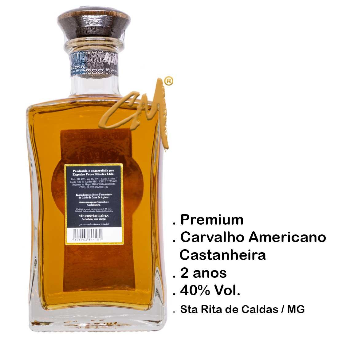 Cachaça Prosa Mineira Reserva Especial 750 ml (Sta Rita Caldas - MG)