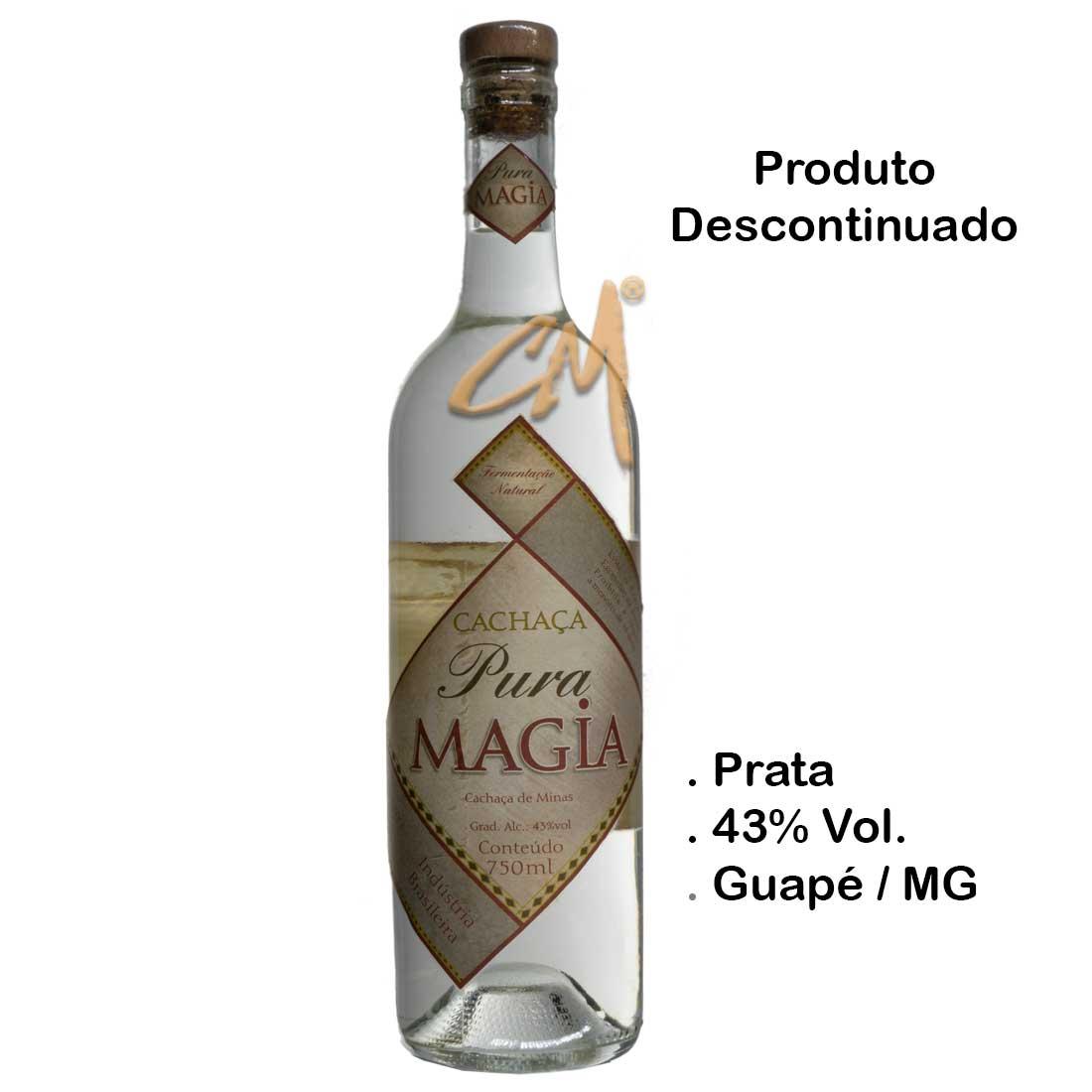 Cachaça Pura Magia Prata 750 ml - Antiga - (Guapé - MG)