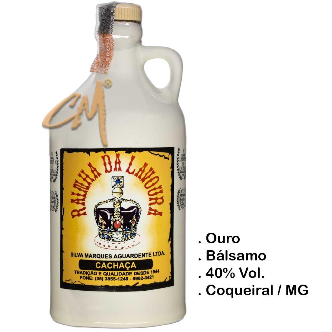 Cachaça Rainha da Lavoura Louça 500 ml (Coqueiral - MG)