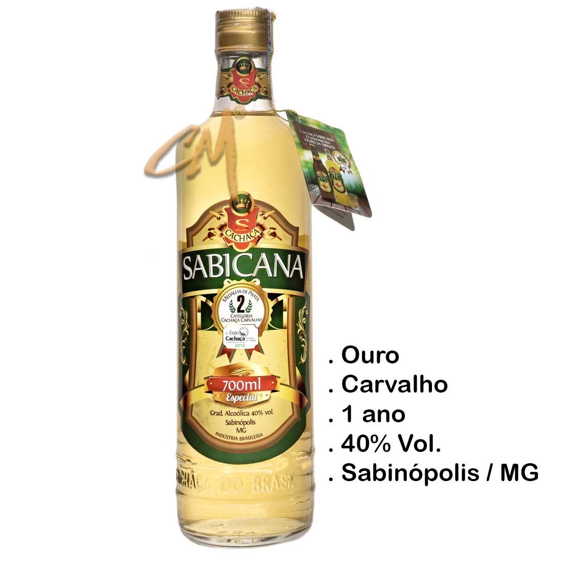 Cachaça Sabicana Especial Carvalho 700 ml (Sabinópolis - MG)