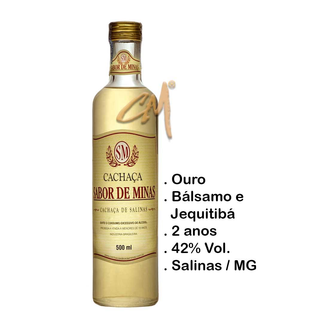 Cachaça Sabor de Minas Ouro 500 ml (Salinas- MG)