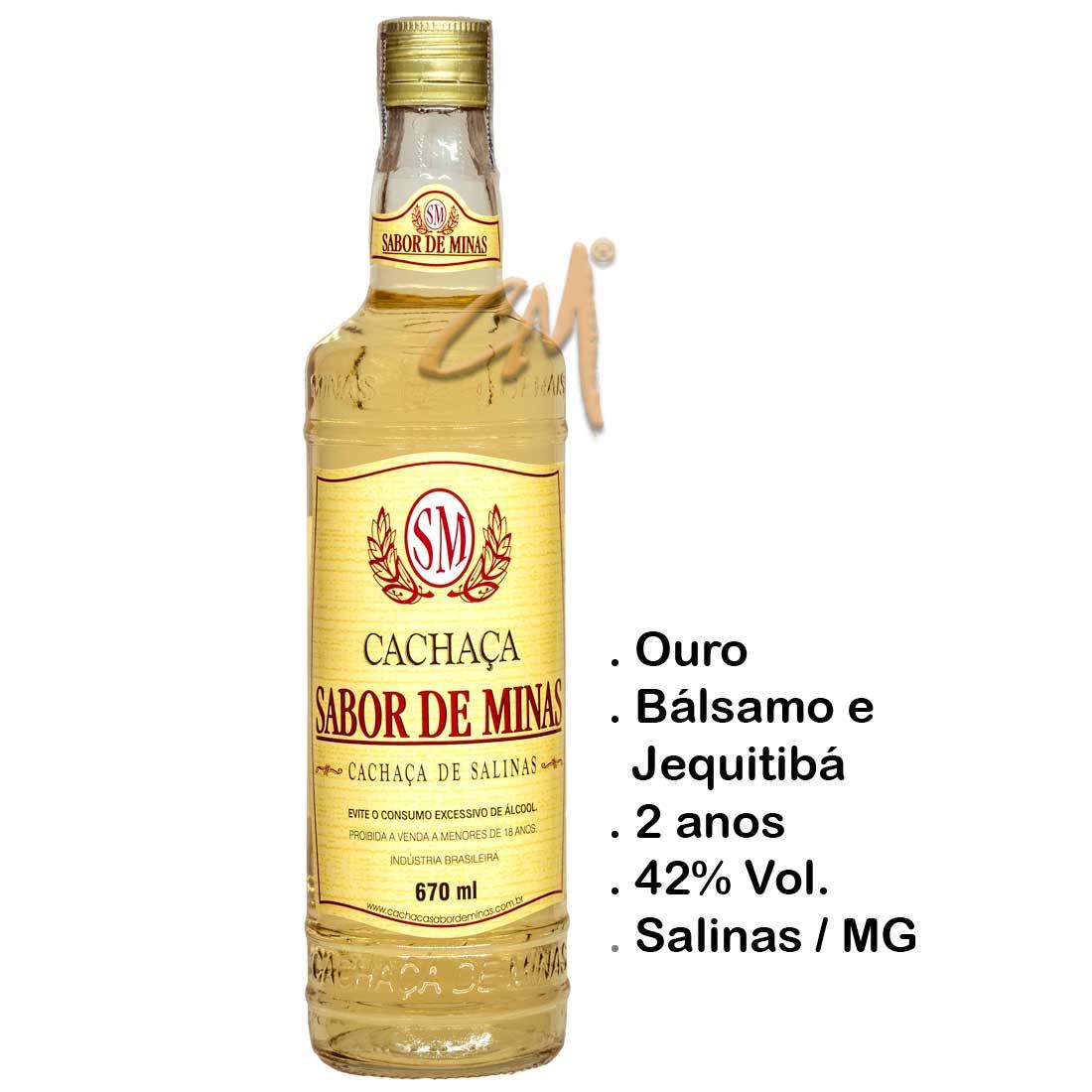 Cachaça Sabor de Minas Ouro 670 ml (Salinas- MG)