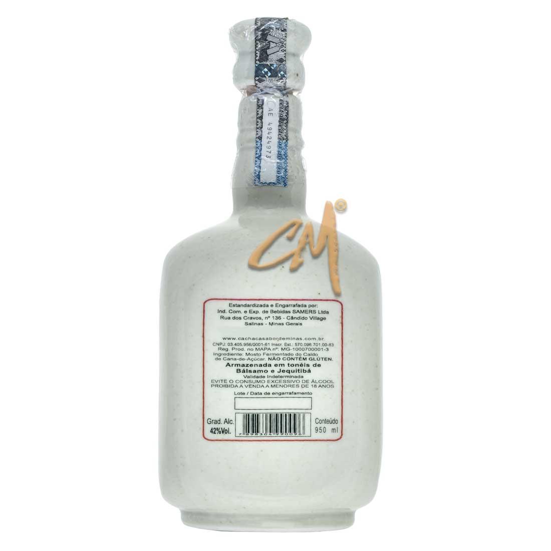 Cachaça Sabor de Minas Ouro Louça 950 ml (Salinas- MG)
