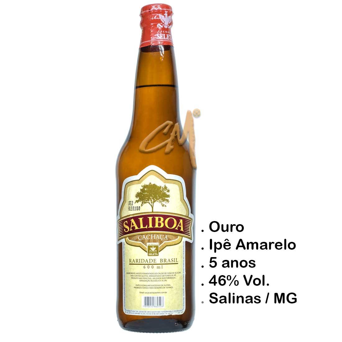 Cachaça Saliboa 600 ml (Salinas - MG)