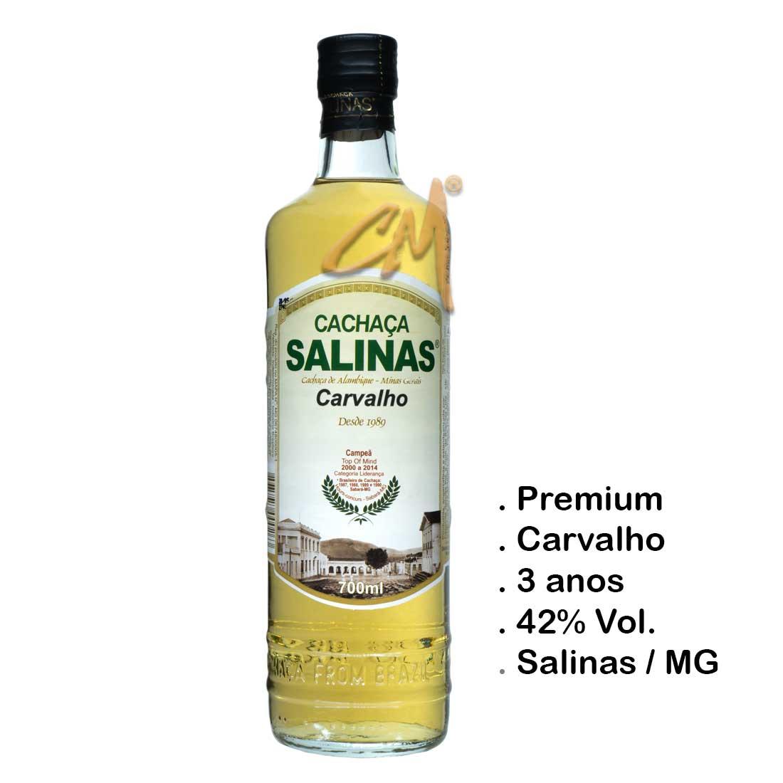 Cachaça Salinas Carvalho 700 ml (Salinas - MG)