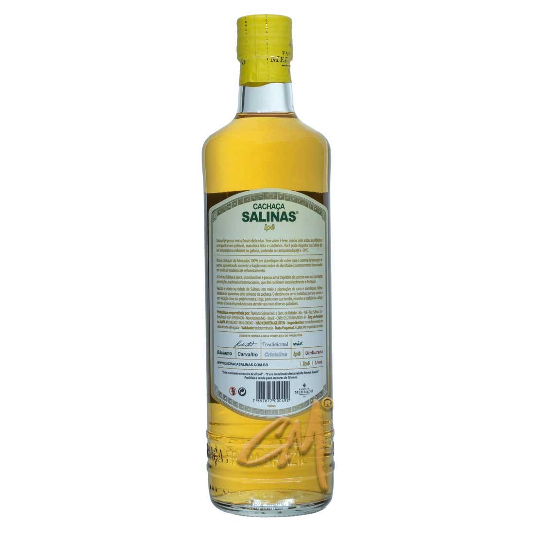 Cachaça Salinas Ipê 700 ml (Salinas - MG)