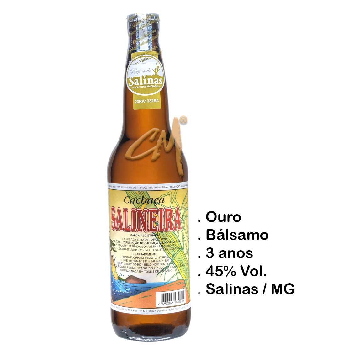 Cachaça Salineira 600 ml (Salinas - MG)