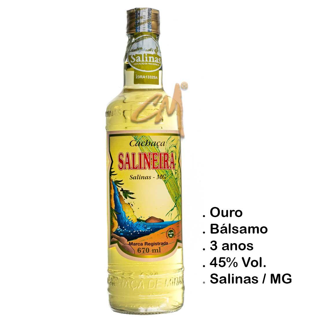 Cachaça Salineira 670 ml (Salinas - MG)