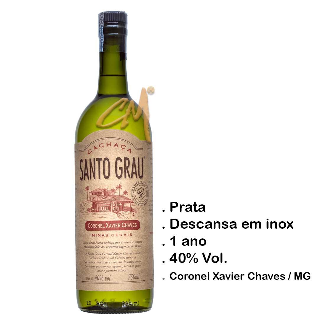 Cachaça Santo Grau Coronel Xavier Chaves 750 ml (Cel. Xavier Chaves - MG)