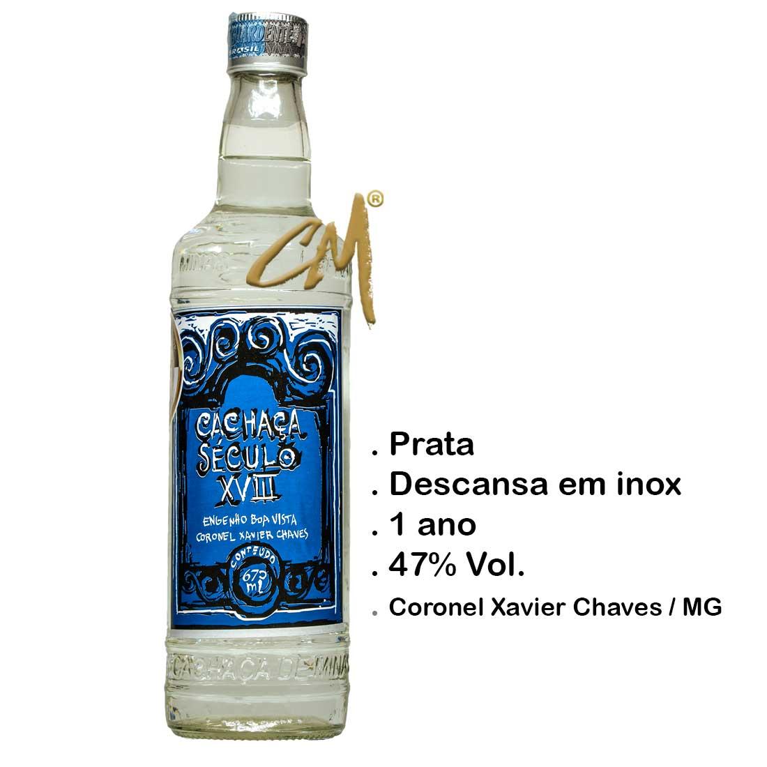 Cachaça Século XVIII 670 ml (Coronel Xavier Chaves - MG)