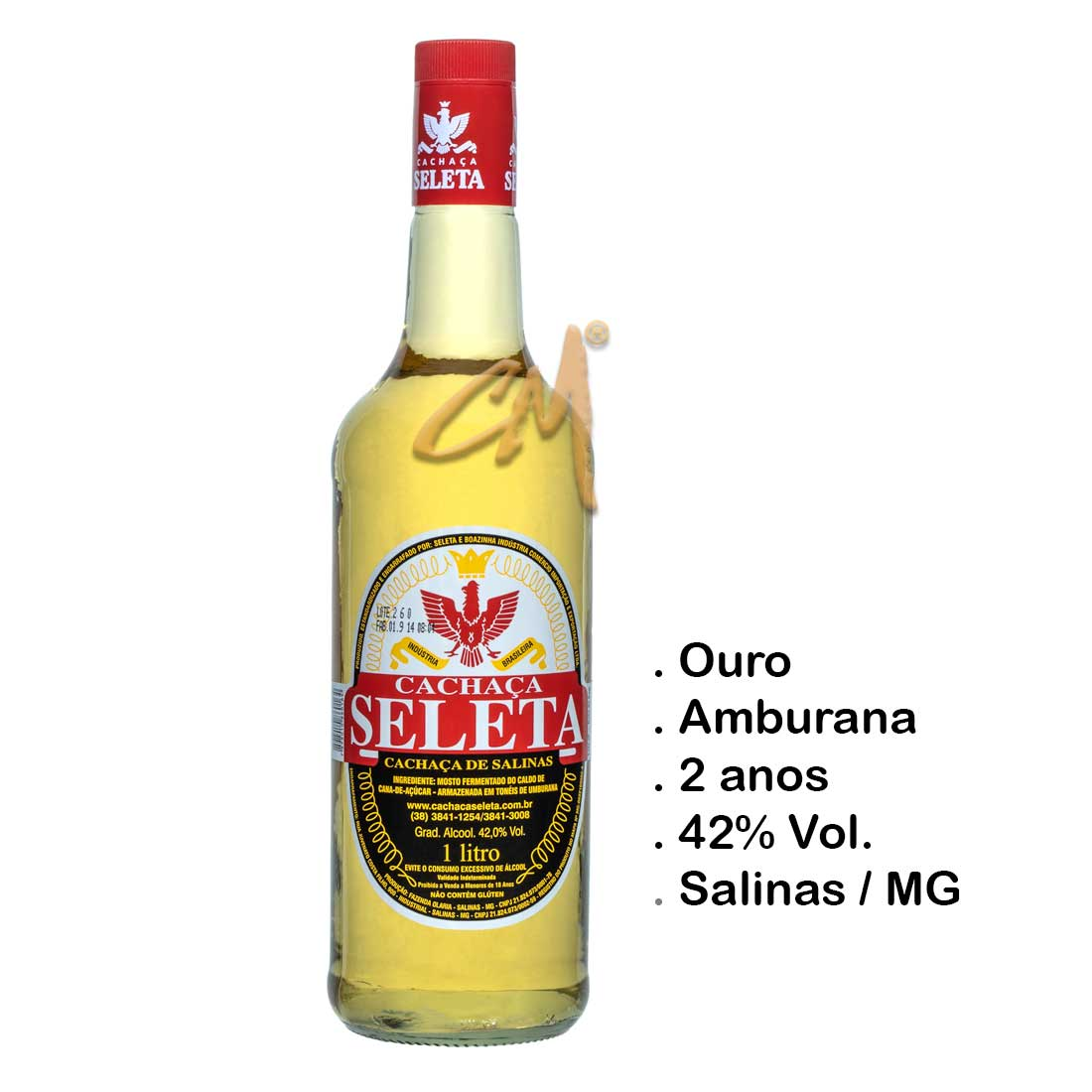 Cachaça Seleta 1000 ml (Salinas - MG)