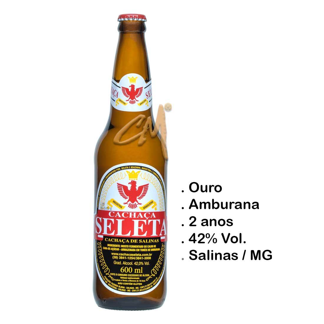 Cachaça Seleta 600 ml (Salinas - MG)