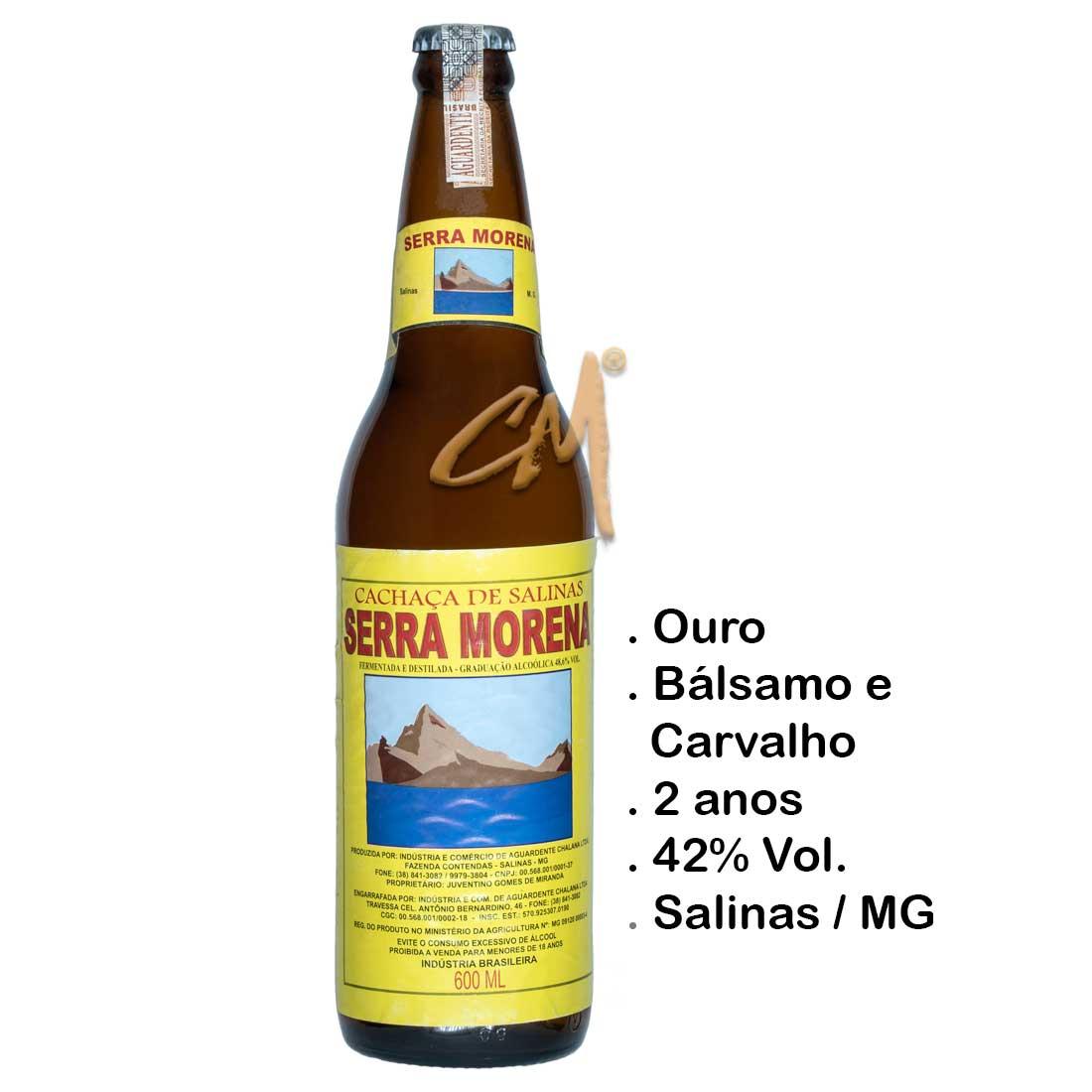 Cachaça Serra Morena 600 ml (Salinas - MG)