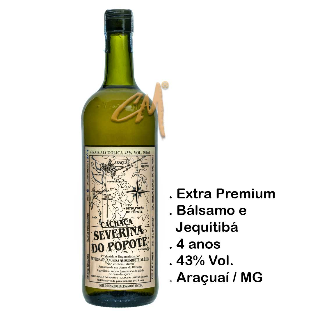 Cachaça Severina do Popote 750 ml (Araçuaí - MG)