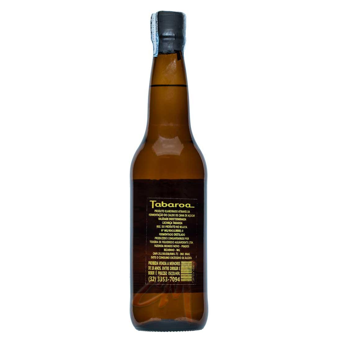 Cachaça Tabaroa 600 ml (Prados - MG)