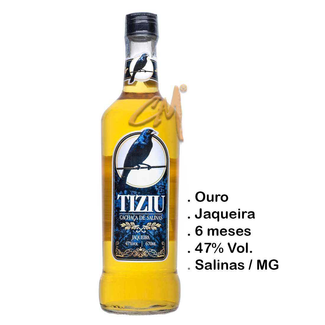 Cachaça Tiziu Jaqueira 670 ml (Salinas - MG)