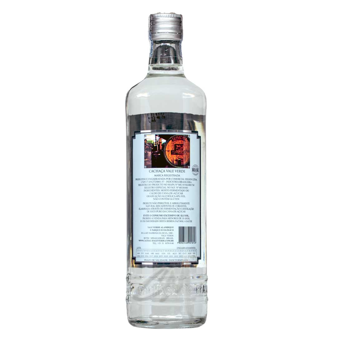 Cachaça Vale Verde Prata 700 ml (Betim - MG)