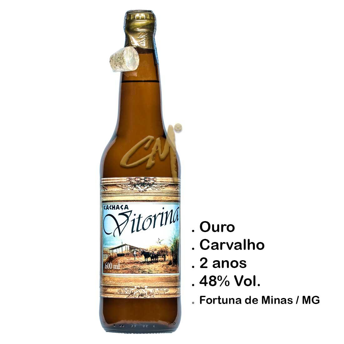 Cachaça Vitorina 600 ml   (Fortuna de Minas - MG)