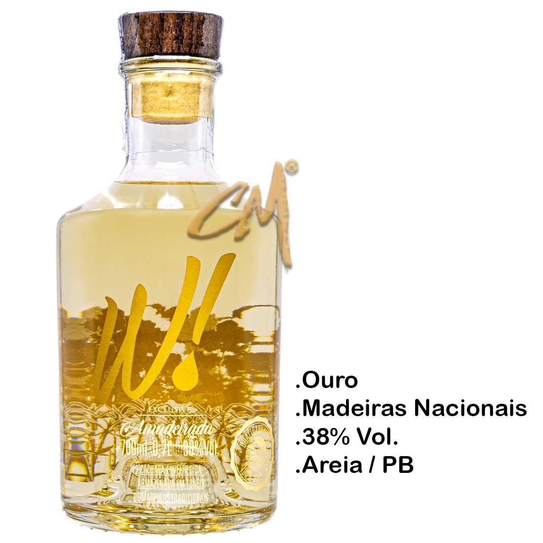 Cachaça W! Exclusive Amadeirada 700 ml (Areia - PB)