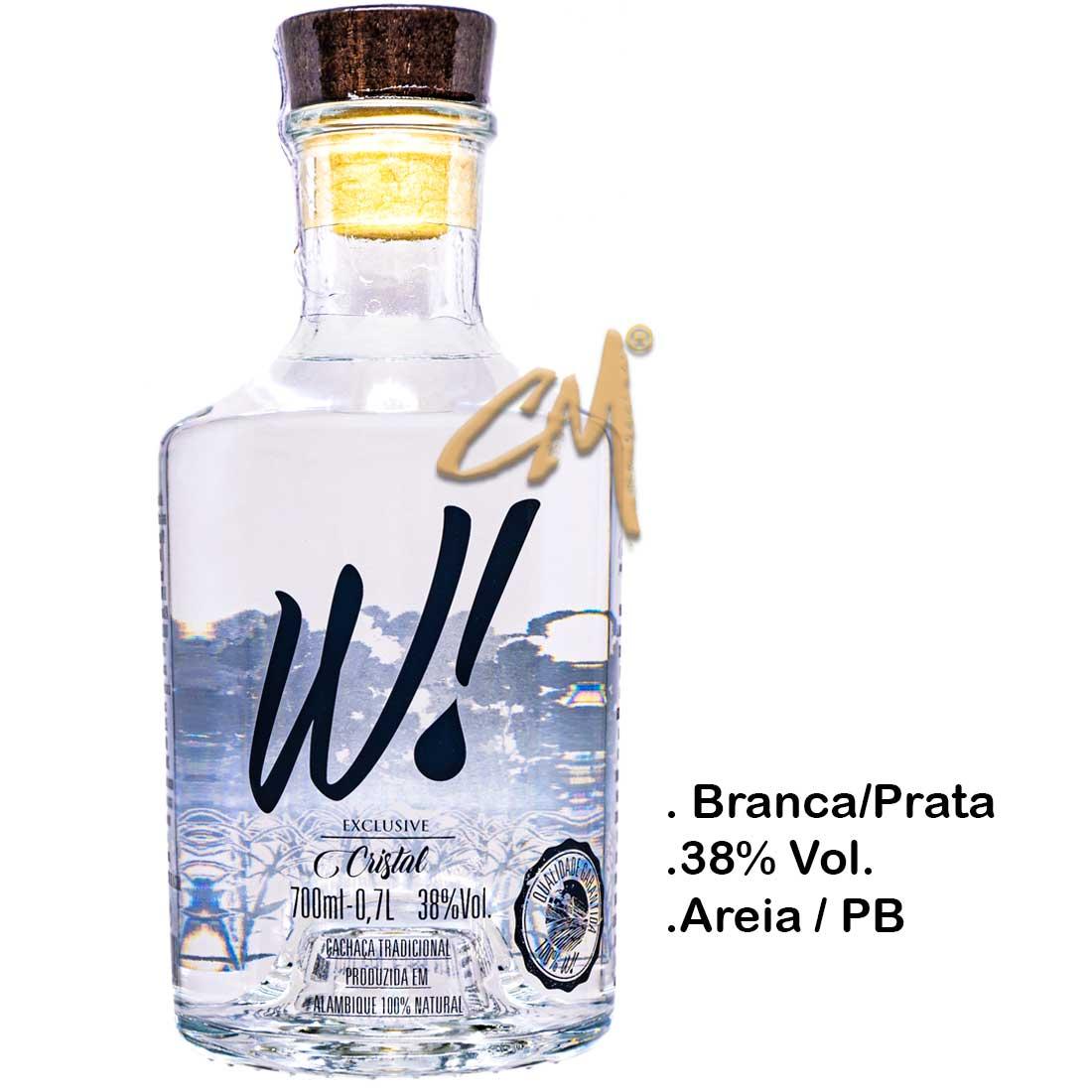 Cachaça W! Exclusive Cristal 700 ml (Areia - PB)
