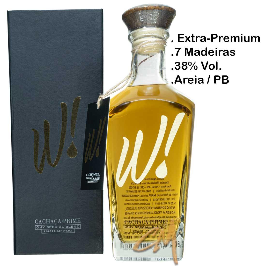 Cachaça W! Prime 7 Madeiras750 ml (Areia - PB)