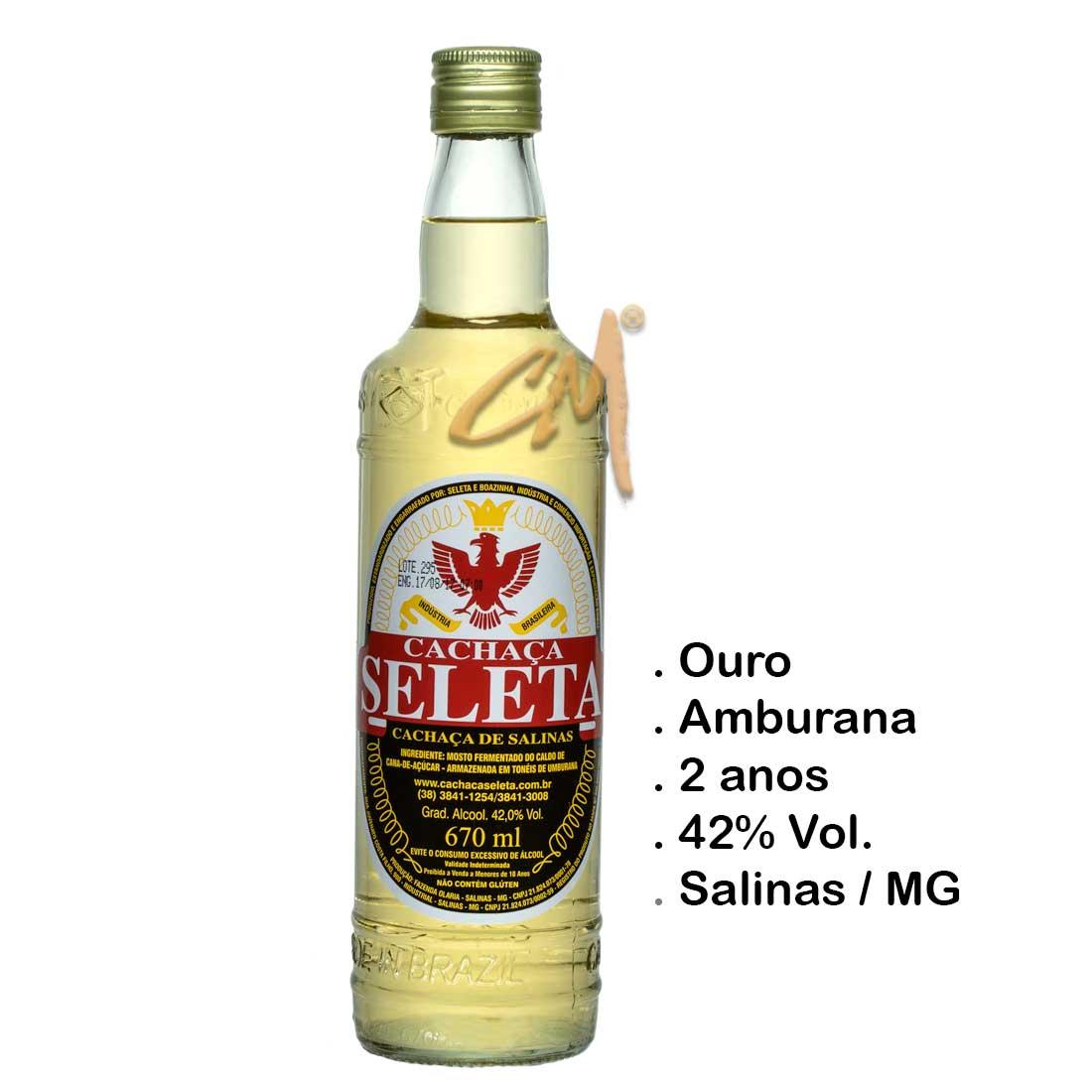 Cachaça Seleta 670 ml (Salinas - MG)