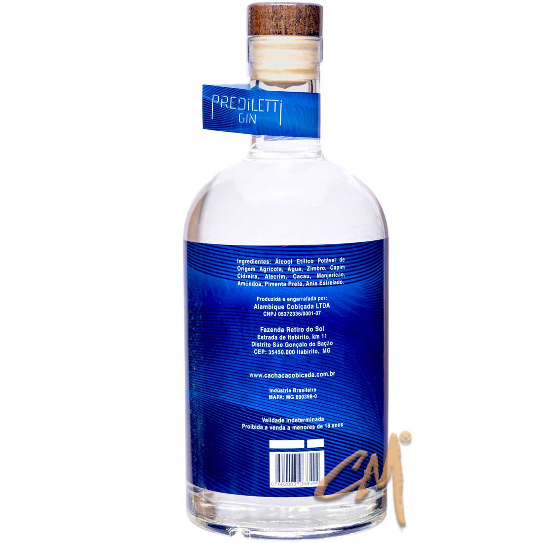 Gin Prediletti 750 ml (São Gonçalo do Bação - MG)