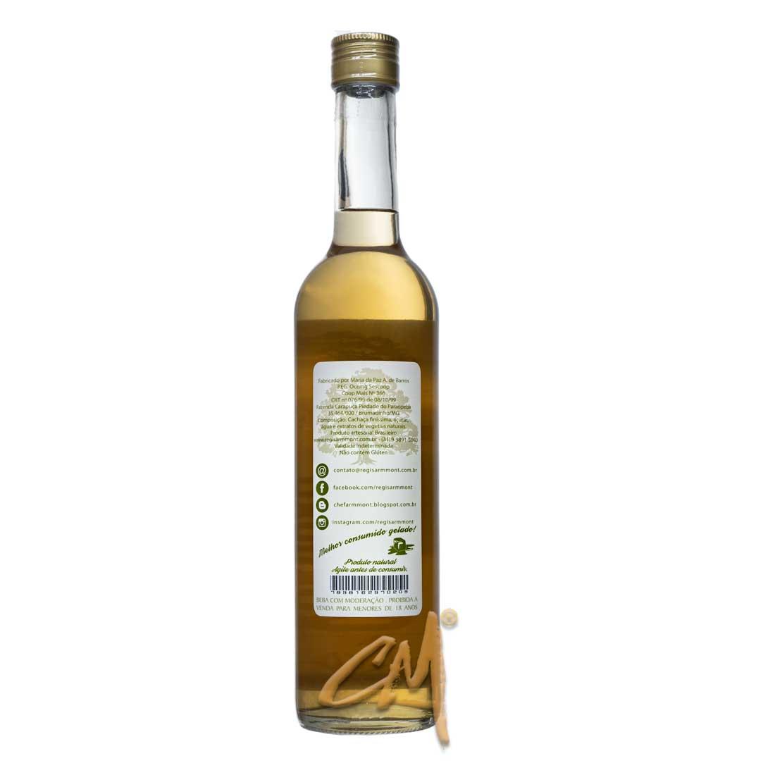 Licor de Cachaça – Régis Armmont 500 ml   (Brumadinho - MG)