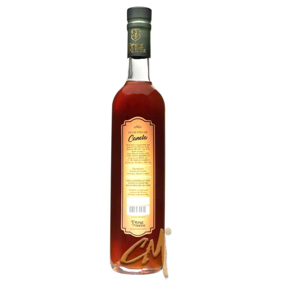 Licor de Canela - Prosa Mineira 500 ml (Sta Rita de Caldas - MG)