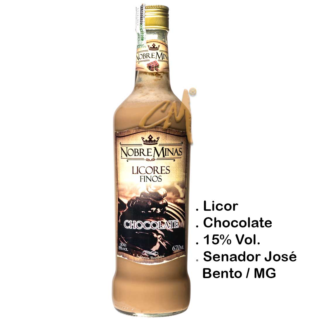 Licor de Chocolate Nobre Minas 670 ml (Sen. José Bento - MG)