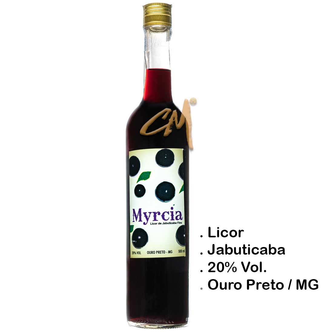 Licor de Jabuticaba Myrcia 500 ml (Ouro Preto - MG)