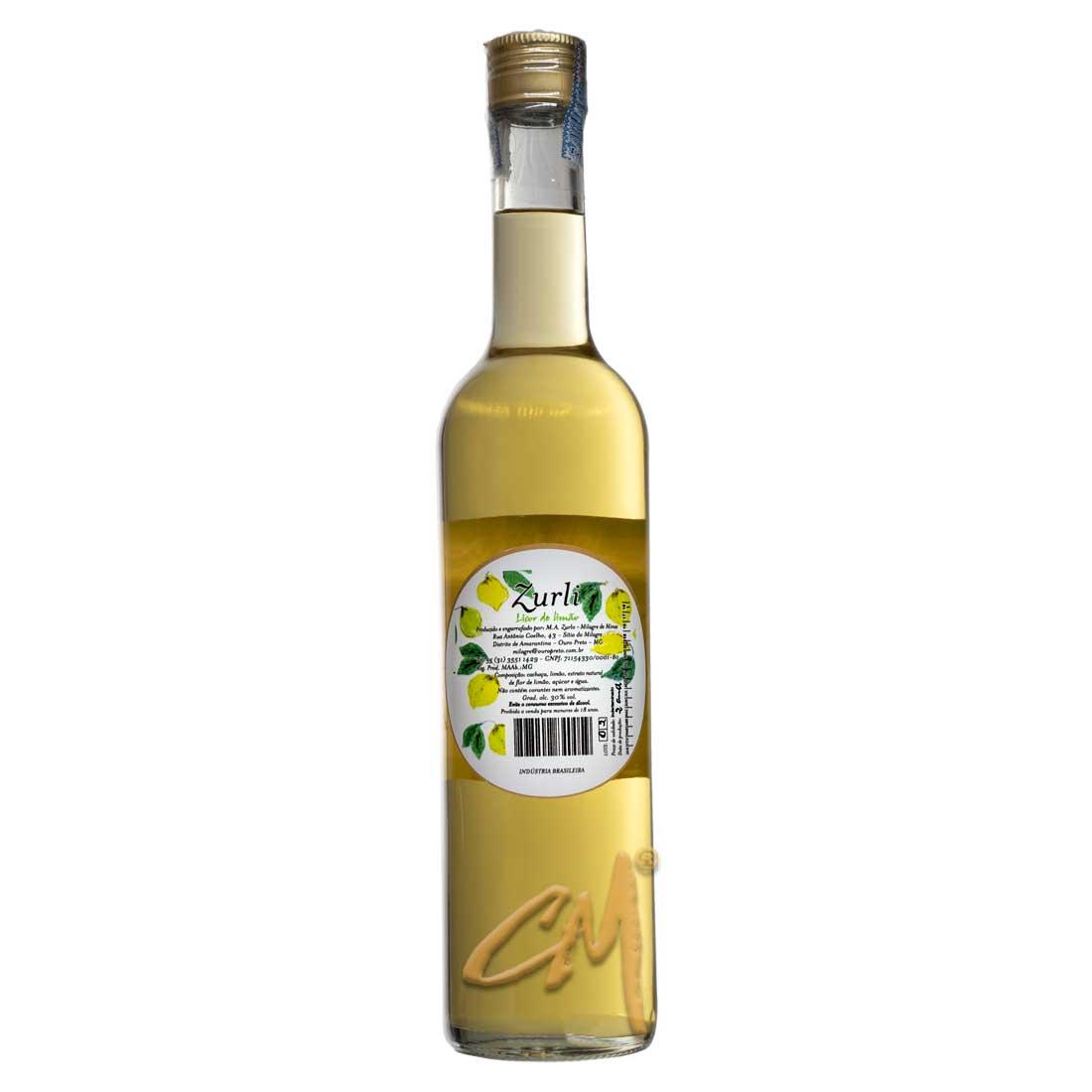 Licor de Limão Cida Zurli 500 ml (Ouro Preto - MG)